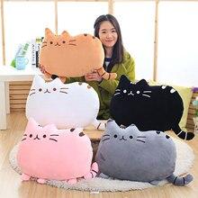 Плюшевые подушки 25 см для полных кошек, хороший подарок на день рождения для детей, для девочек, друзей, плюшевые животные, мягкая подушка для сна, снимающая стресс