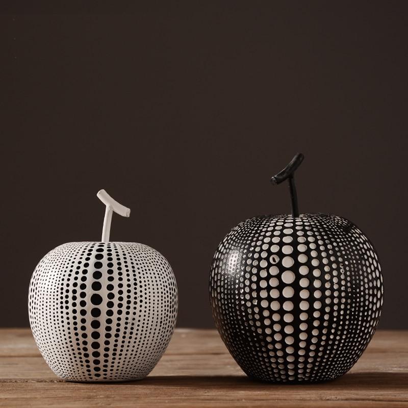 แอปเปิ้ลแฟชั่นศิลปะนามธรรมตกแต่งบ้านสร้างสรรค์ผลไม้งานฝีมือเรซิน-ใน รูปปั้นและงานประติมากรรม จาก บ้านและสวน บน   3