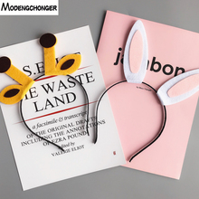 New Cartoon Hair Hoop Hairbands Bezel Rabbit Ears Headband Wash Band Party Fashion Accessories Headwear