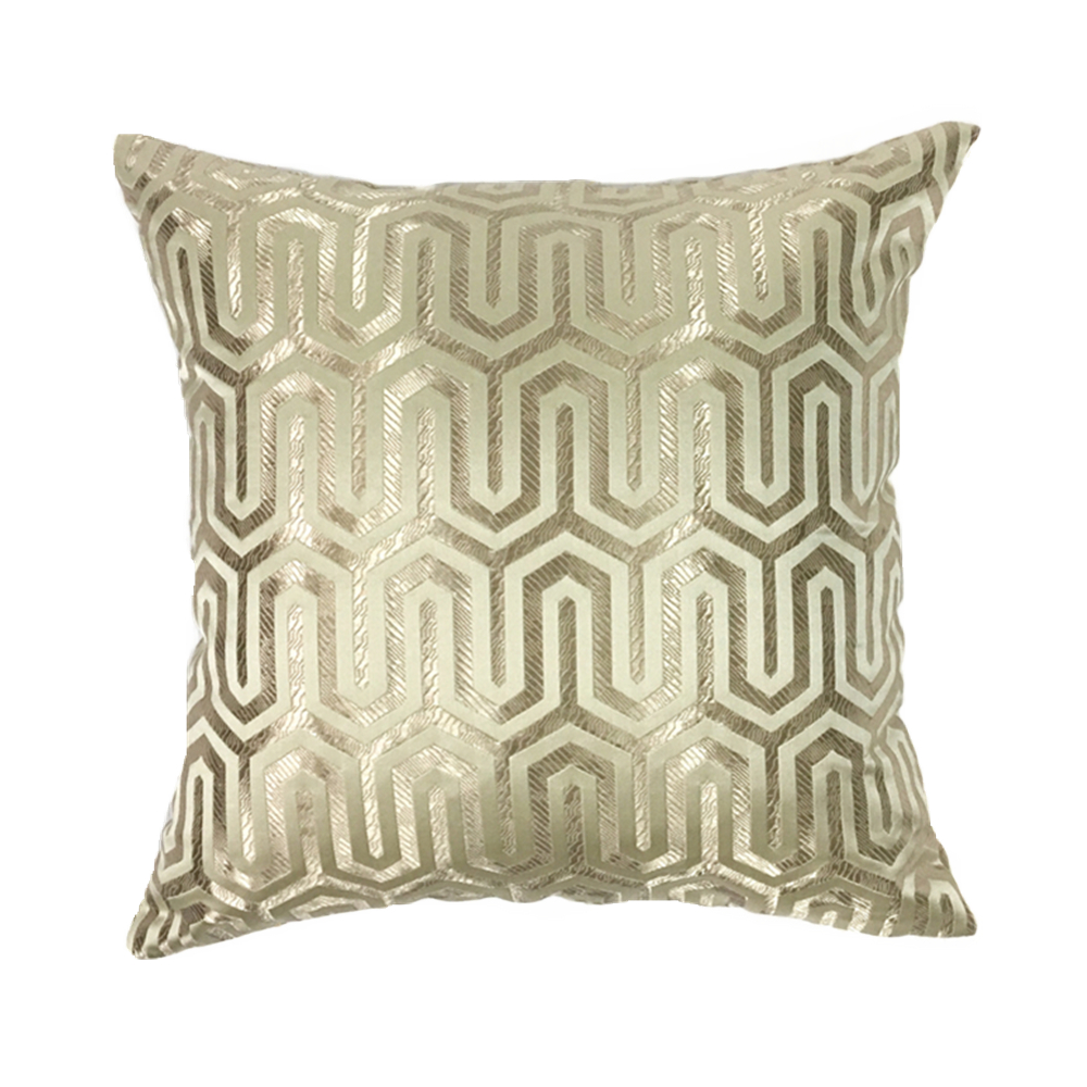 Contemporary Sofa Geometric Pillows: Home Modern Geometric Pillows Dark Beige Jacquard Woven