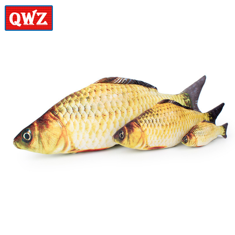 QWZ Fashion Simulation Carp Stuffed Fish Kids Creative Sofa Bed Pillow Appease Baby Kids Toy Christmas Gift Plush Toys Pillow huge plush carp fish toy simulation carp lucky fish doll gift about 120cm