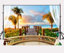 150x220cm Hotel Beach Holiday Backdrop Morning Glow Between Sea and Sky Photography Background стоимость