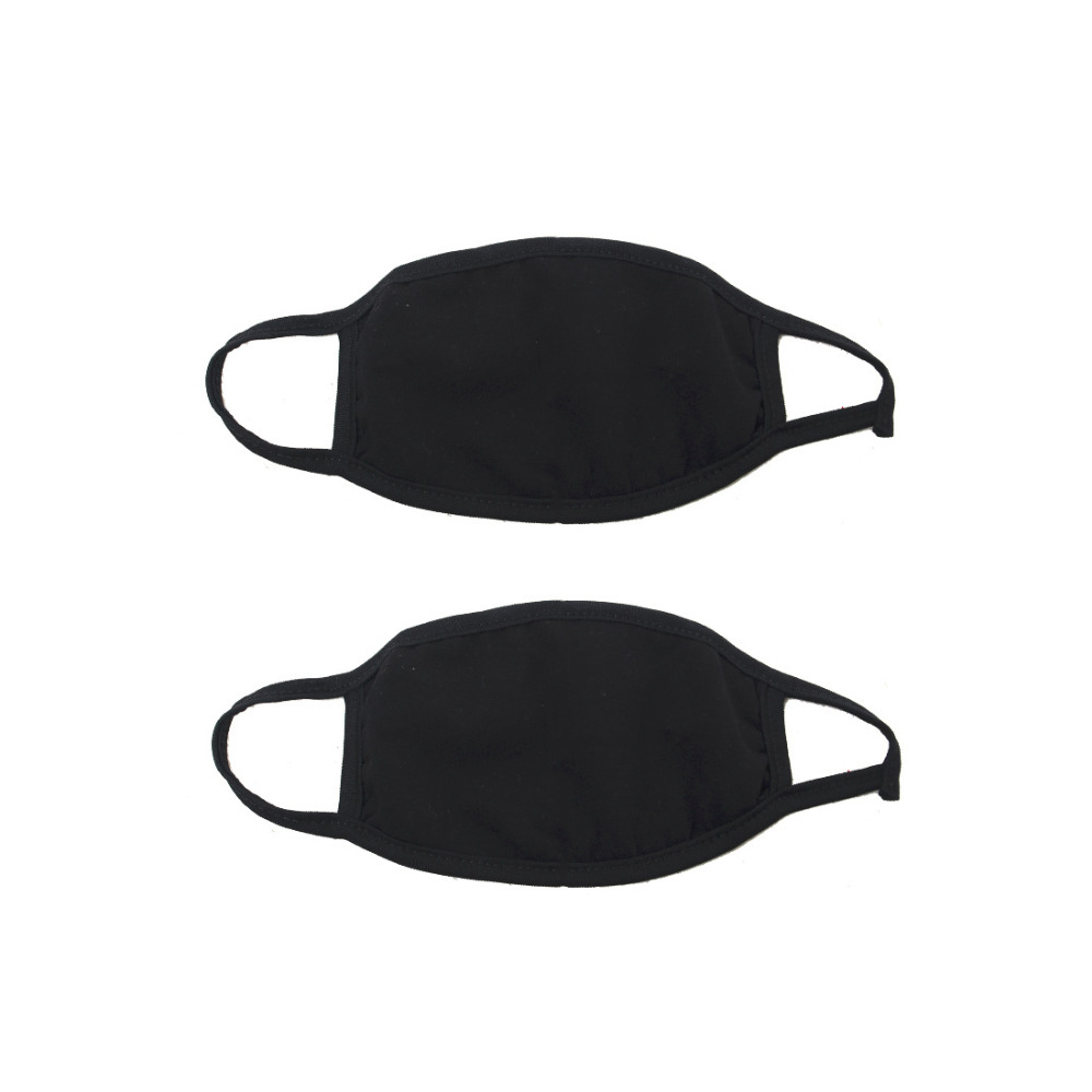 Tattoo & Body Art Well-Educated Black Bilayer Cotton Mouth Mask Anti Haze Dust Washable Reusable Double Layer Dustproof Mouth-muffle Winter Warm Mask 2pcs Tattoo Accesories