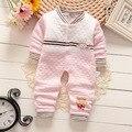 Bibicola 2016 recién nacidos muchachas de los bebés ropa de manga larga del mono de los niños del mameluco del otoño invierno ropa de abrigo ropa mother nest