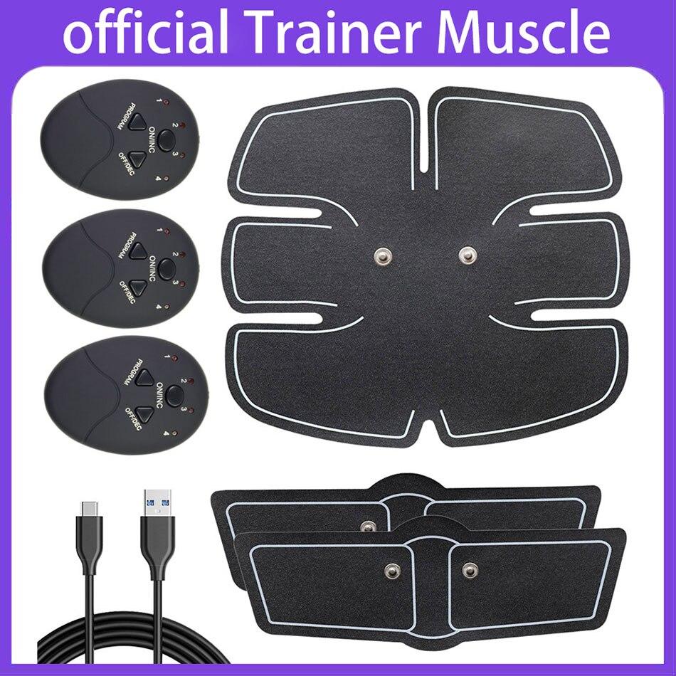 Dropshipping USB ladegerät EMS Bauch Muscle Stimulator TrainerElectric Cellulite Massager Körper Gestaltung Massage Schlank Gürtel Werkzeug