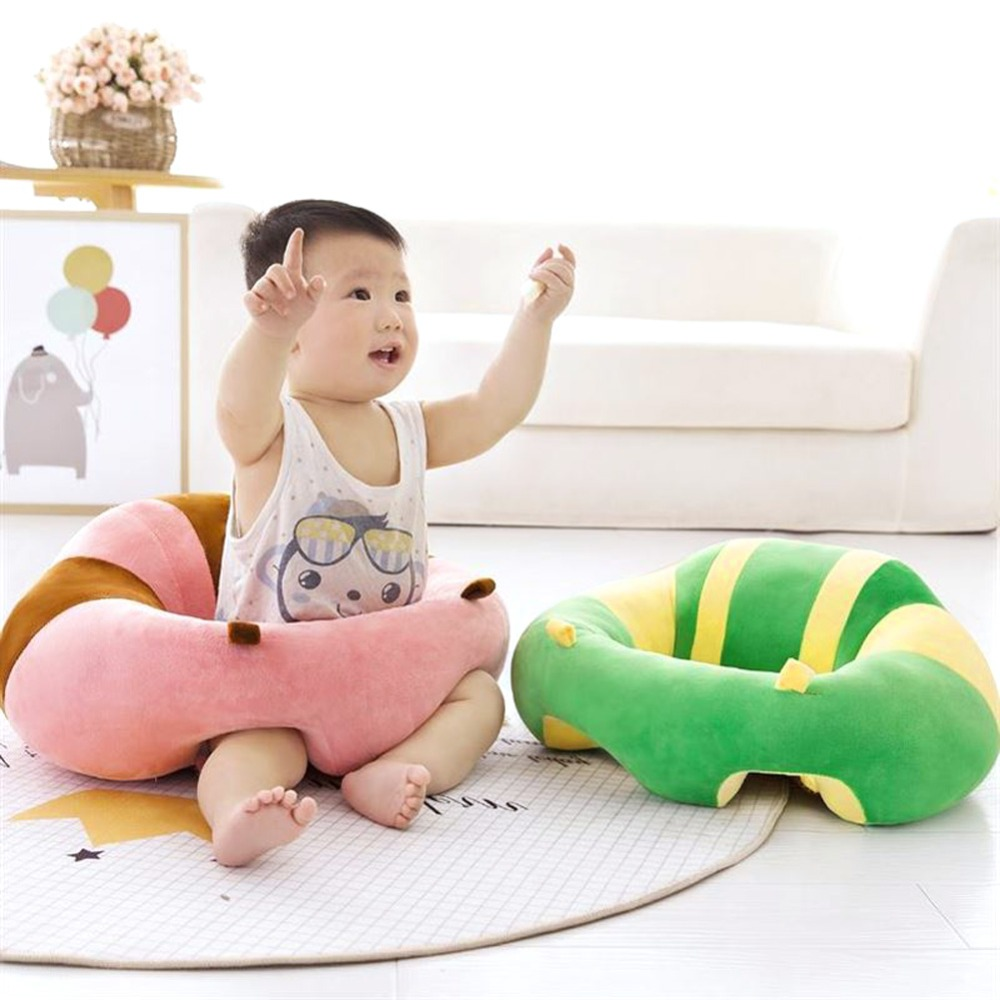 Dropshipping Baby Seats Sofa Soft Car Travel Sit Support Filler Cartoon Animal Plush Cushion Children Sit Trainer Feed Support
