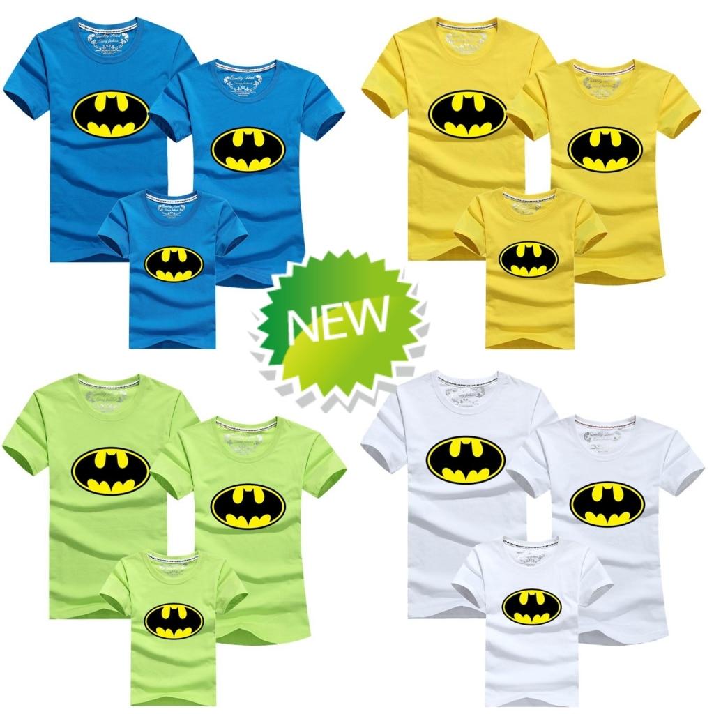 family tees batman family t shirt summer dad mum baby kids ...