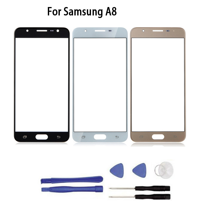 New Touch screen For Samsung Galaxy A8 2015 A8000 A8 2016 A8100 touch Screen Front Glass Touch Panel Replacement+tool