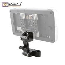 Suporte ajustável do monitor de camvate/suporte com o padrão 15mm braçadeira da haste dobro para monitores/alguns outros dispositivos de apoio