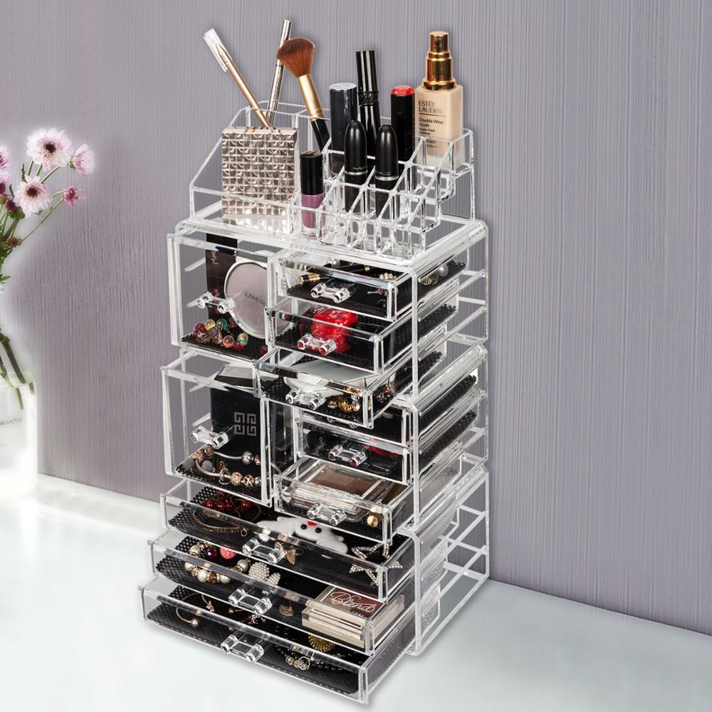 Case-Box Makeup-Organizer-Holder Cosmetic-Tower Jewelry-Storage Drawer Acrylic Only-Ship