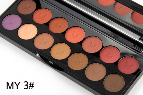 2016 MISS ROSE Shimmer 14colors diamond bright colorful eye shadow super flash paleta Glitter eyeshadow pallete matte Eyeshadow3
