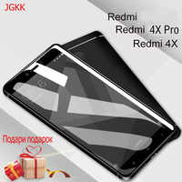 JGKK Screen Protectors Redmi 4X Glass Tempered Glass For Xiaomi Redmi 4X Protective Full Cover Film For Redmi 4X safety glass 5
