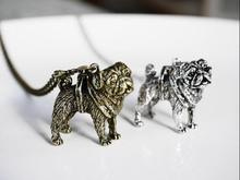 DANGGAO Handmade 3D Pug pendant Necklace women chain choker necklace charm jewelry cute Pet Lovers Gift Idea