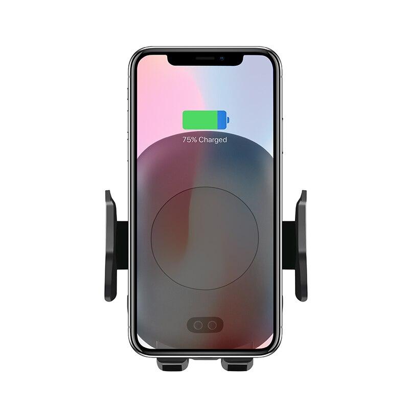 Aiyima 10 watt QI Drahtlose Ladegerät Schnelle Drahtlose Auto Ladegerät Automatische Induktion Auto Telefon Halter Für iPhone XS MAX XR 8 Samsung S9