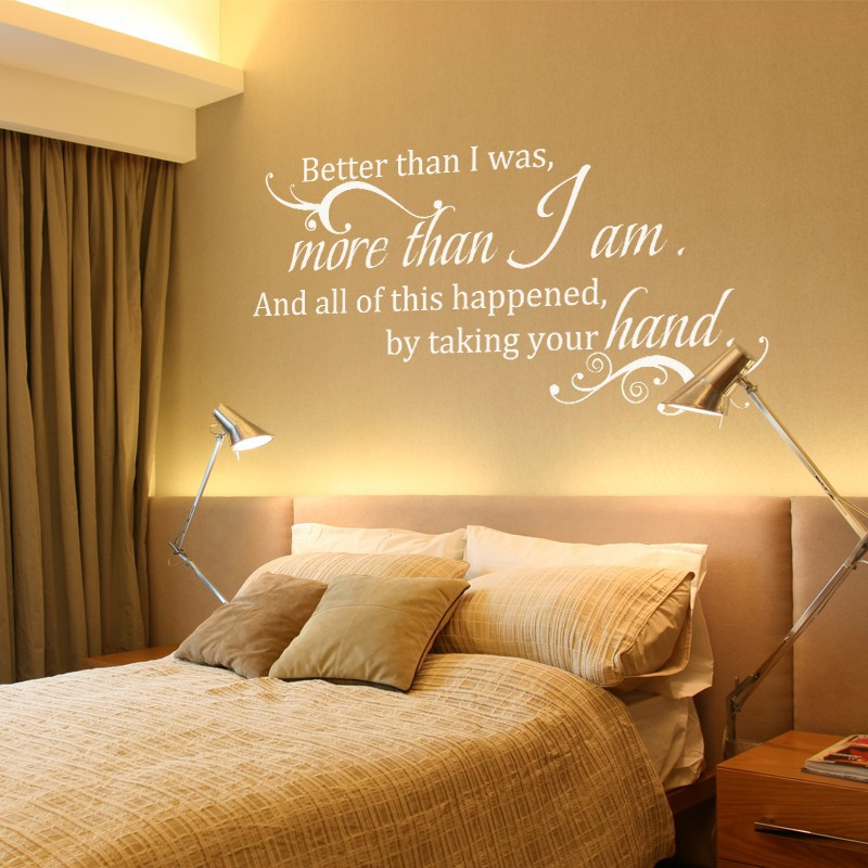 Wall Decal Quote Better than I was more than I am Wedding Vinyl ...