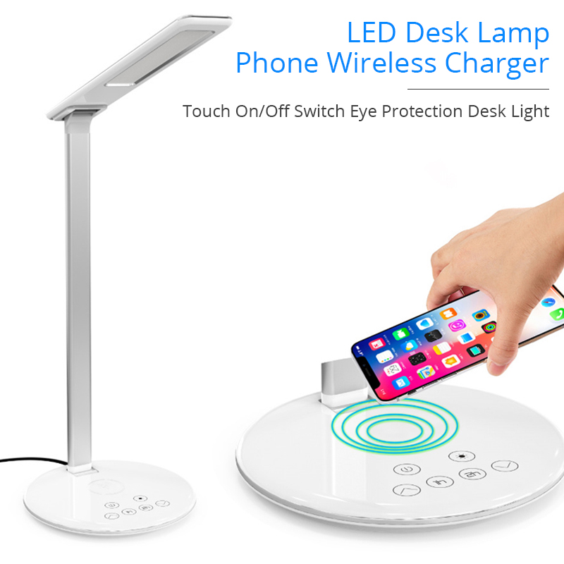BONOLA LED Lamp Wireless Charger for iPhone Xr/8plus/XsMax Touch Switch Desk Lamp Qi Wireless Charging For Samsung S10/S9/S8BONOLA LED Lamp Wireless Charger for iPhone Xr/8plus/XsMax Touch Switch Desk Lamp Qi Wireless Charging For Samsung S10/S9/S8
