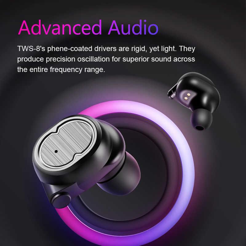 SANLEPUS TWS 5.0 bezprzewodowe słuchawki Bluetooth słuchawki słuchawki sportowe zestaw słuchawkowy Stereo zestaw głośnomówiący Auriculares dla Xiaomi telefonów
