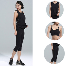 3pcs=1set Fitness Suit women's Yoga suit new summer sports tight Yoga pants Sports Vest+ Bra+Sports Pants Fast Dry Fitness QY