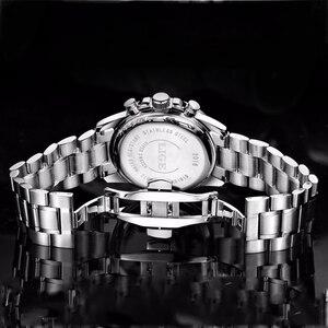 Image 4 - LIGE Luxury Brand Waterproof Military Sport Watches Men Silver Steel Calendar Quartz Analog Watch Clock Relogios Masculinos XFCS