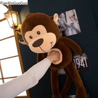 new arrival cute brown monkey plush toy down cotton cartoon monkey large 75cm very soft doll throw pillow Christmas gift s2229
