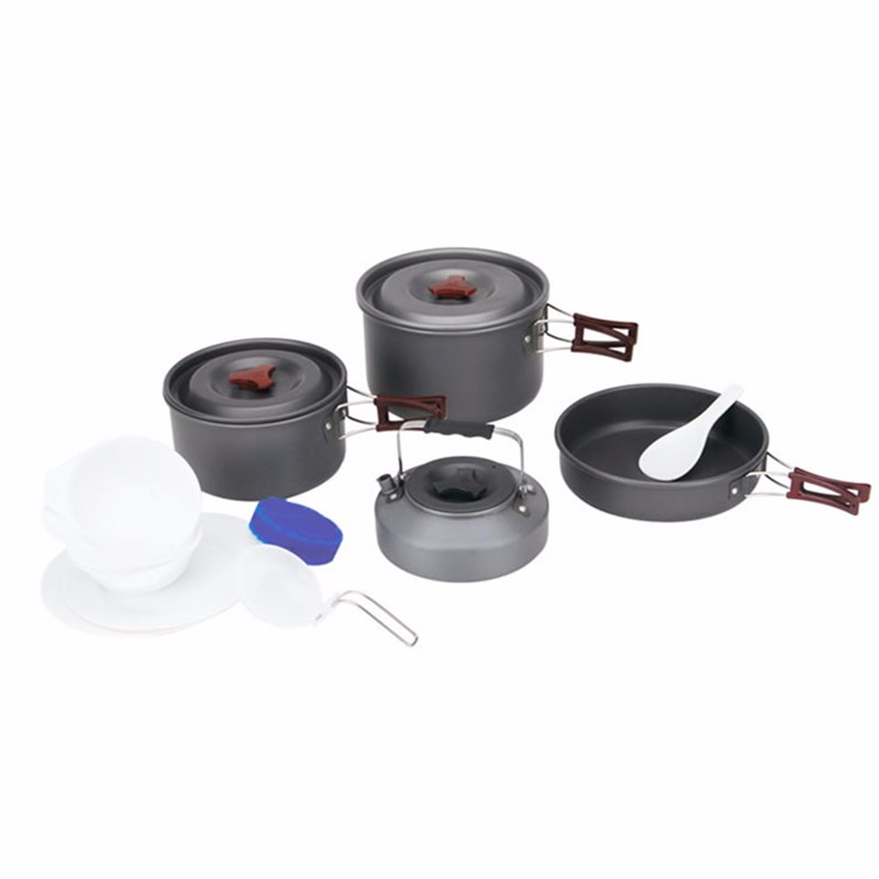 Fire Maple FMC-209 Outdoor 4 Pcs/Set 3-4 People Camping Cookware Frying Pan/Coffee Maker Bowl fire maple portable titanium flagon outdoor sake set camping wine pot with cup travel drinkware fmc 1703002 fmc 1703003