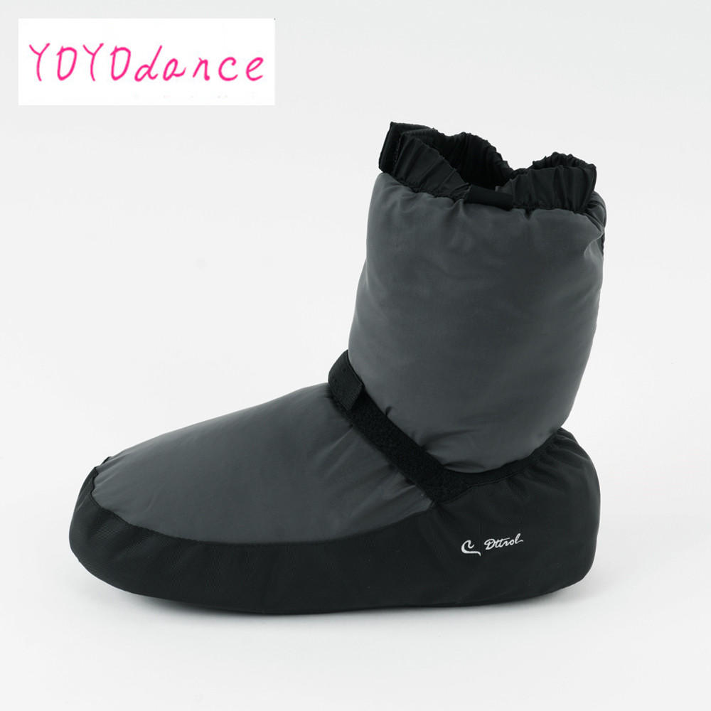 Ladies black purple grey ballet castle Flo Ballet Dance Warm Boot  fit for 23cm to 26.5cm foot length warm-up booties 12005