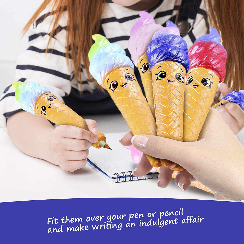 Besegad jumbo Kawaii ручка мягкое мороженое, еда карандаш мяч для сжимания медленно распрямляющаяся игрушка для детей снимает стресс беспокойство