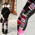 Frete grátis novo Inverno neve córtex splicing desgaste da menina das crianças e veludo menina tornar calças calcinha