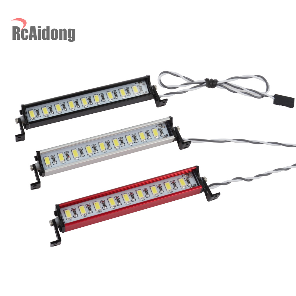1/10 RC Crawler de 9, barra de luz LED Kit de escala 1/10 Control remoto modelos TAMIYA CC01 Axial SCX10 RC4WD d90 D110 90046