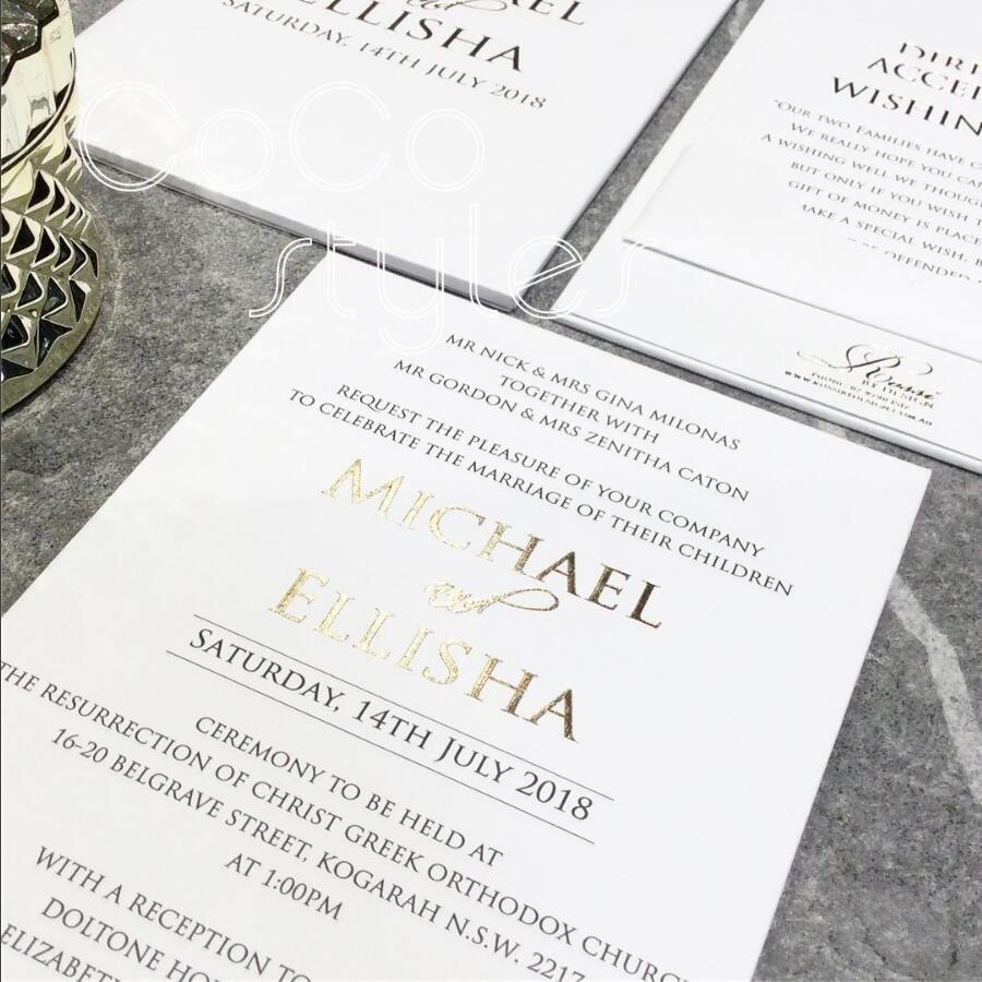 Cocostyles personalized elegant single hardcover wedding invitation ...