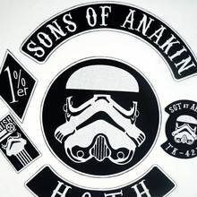 SONS OF ANAKIN HOTH  Biker Patch BACKING Embroidered biker Patches Badge 6 PCS/SET g hoth suite im alten style op 6a