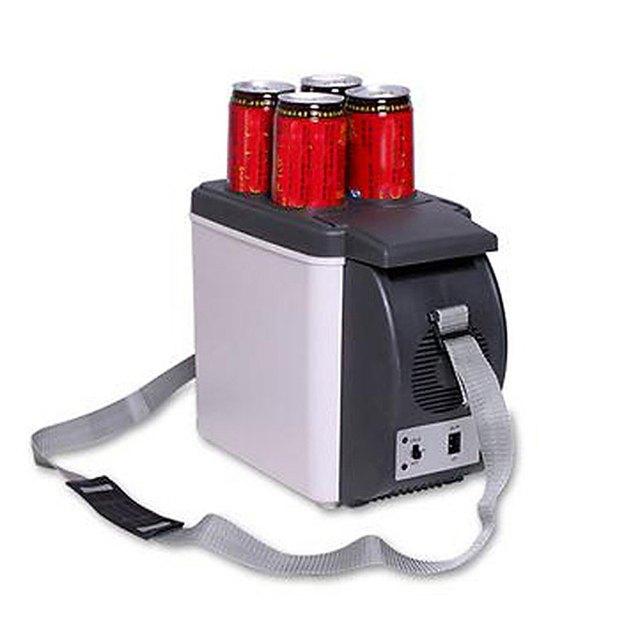 High Quality Portable 12V 6L Auto Car Mini Fridge Travel Refrigerator ABS Multi-Function Home Cooler Freezer Warmer