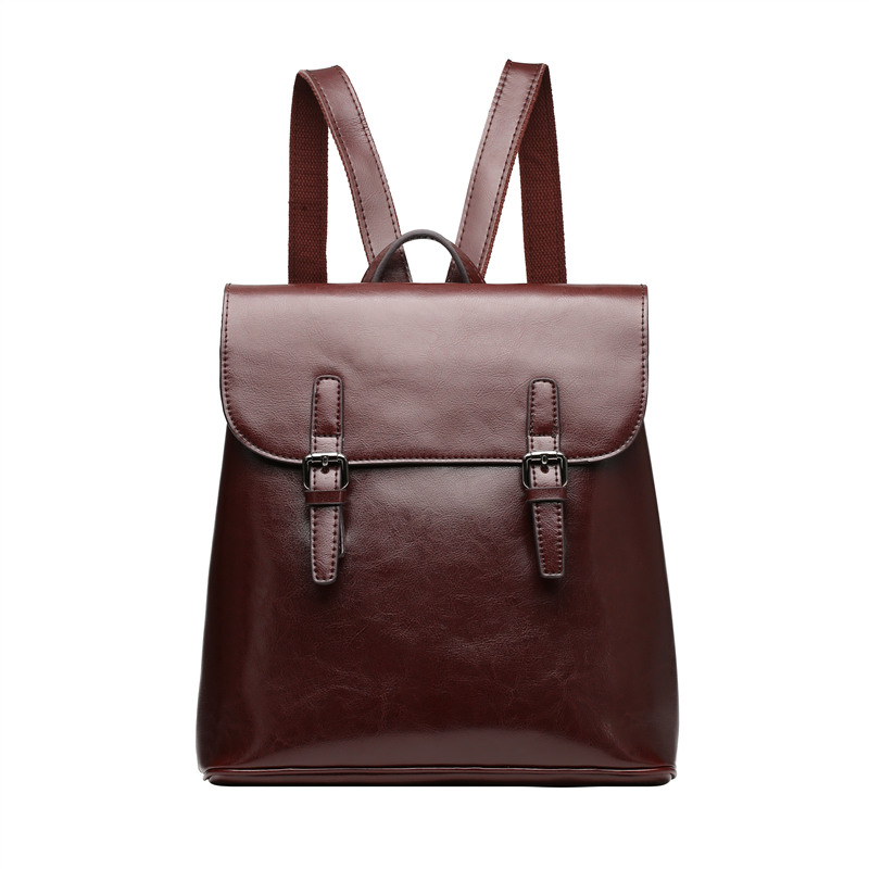 Nesitu High Quality New Coffee Black Brown Split Leather Women Backpacks Cute Woman Girl Backpack #M0787