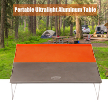 Ultralight Mini Folding Camping Table Desk Portable Foldable Table Outdoor Cooking Platform for BBQ Hiking Traveling Picnic oxford cloth surface outdoor folding table stable waterproof portable camping table ultralight picnic bbq accessories can stored