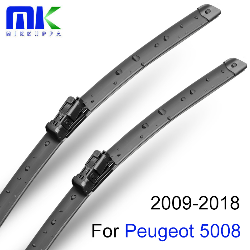 Mikkuppa Front And Rear Wiper Blades For Peugeot 5008 2009-2018 Natural Rubber Windshield Windshield Auto Car Accessories