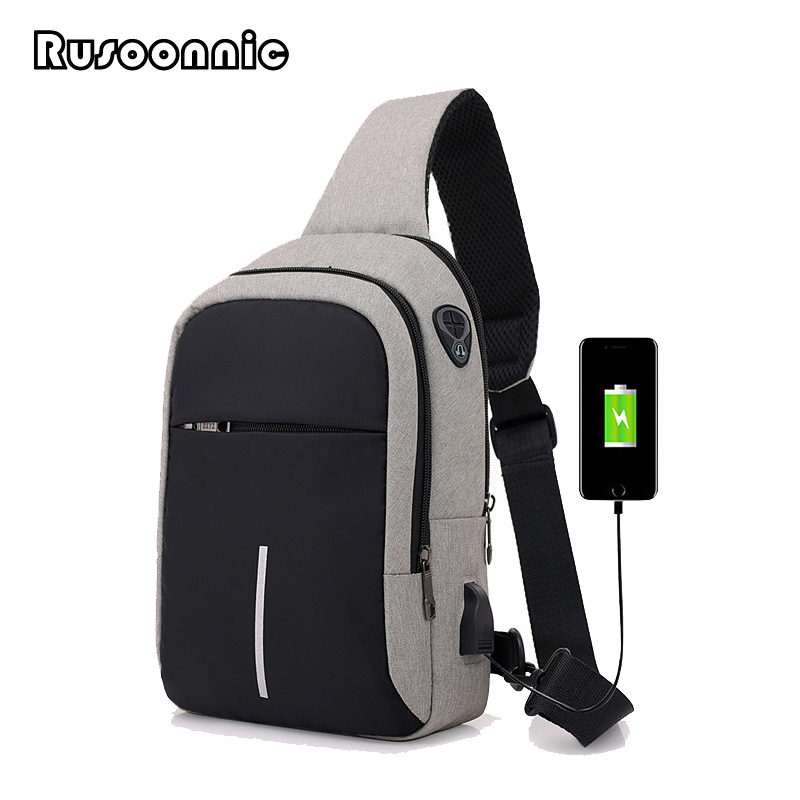 e20be5b2d045 Rusoonnic Chest Pack Canvas Anti Theft Men Single Shoulder Strap Crossbody  Bags for Women Sling Shoulder