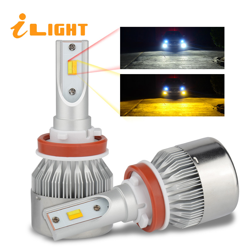 iLight 2pcs H7 led Headlights H4 LED Bulb Car H4 Lamp HB3 9005 HB4 9006 H9 H1 H3 H8 H27 9007 H13 881 880 H11 12V Super White aicarkas 2 pcs 36w 4000lm 6000k h4 h1 h3 turbo led car headlight h7 h8 h9 h11 880 881 9005 hb3 9006 hb4 9007 led fog light bulb