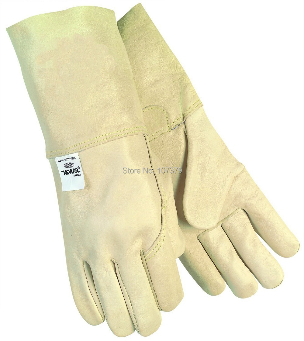 Leather work gloves china - Leather Work Glove Mustang Mig Tig Safety Glove Premium Grain Cow Leather Welding Glove