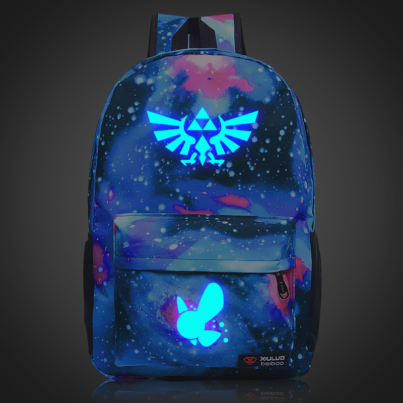 2017 Harajuku The Legend Of Zelda: Breath Of The Wild Galaxy Luminous Printing Backpack School Bags Mochila Feminina Laptop Bags