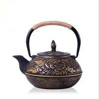 Drinkware Japanese Cast Iron Teapot Uncoated Kung Fu Penoy Tea Pot  With Filter Handpainted Kettle Tetera De Hierro Fundido