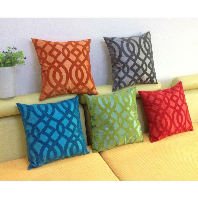 Buy decorative taffeta flocking cushion for Cojines para sofas