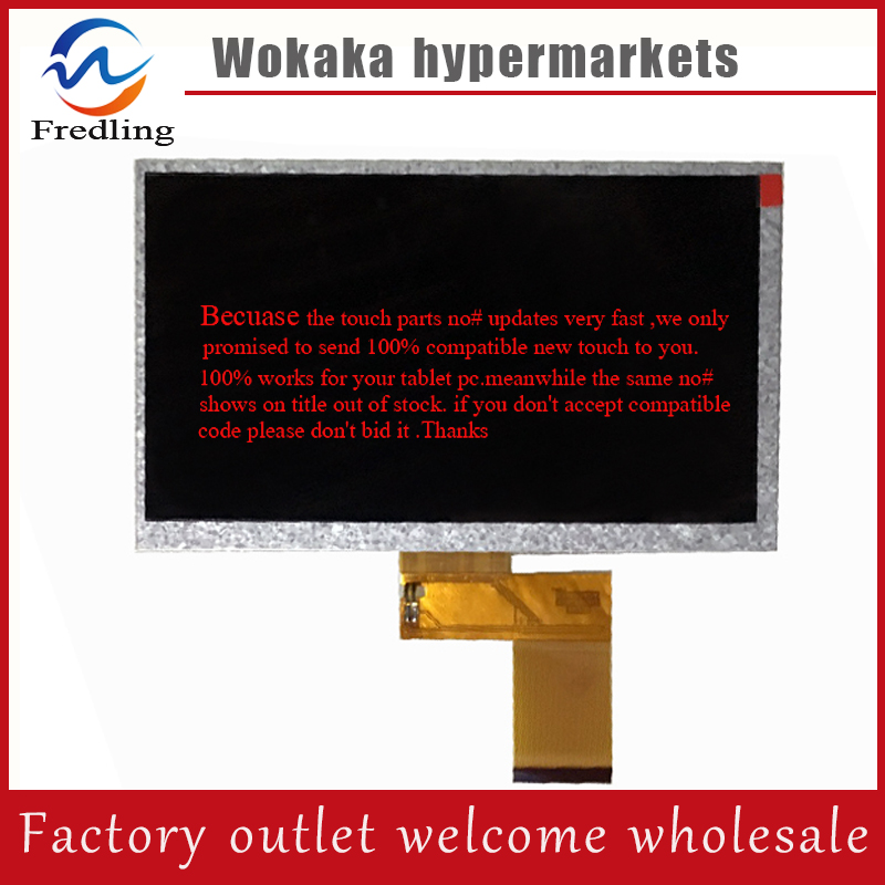 NEW 7inch 50pin LCD Screen Display for GoClever TAB T76GPS TV GCT76GPSTV Tab Tablet PC original 7 inch 163 97mm hd 1024 600 lcd for cube u25gt tablet pc lcd screen display panel glass free shipping