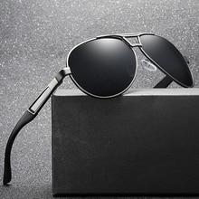 Высококачественные поляризованные солнцезащитные очки HD объектив Для мужчин водительские очки, солнечные очки авиаторы, Брендовая Дизайнерская обувь gafas oculos de sol Feminino masculino S193