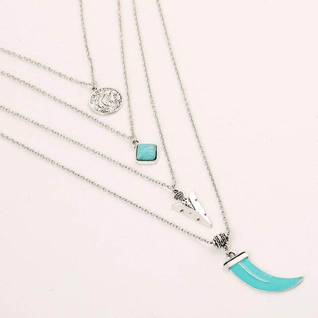 Фото ожерелье с кулоном toucheart тибетский серебристый цвет многослойное цена
