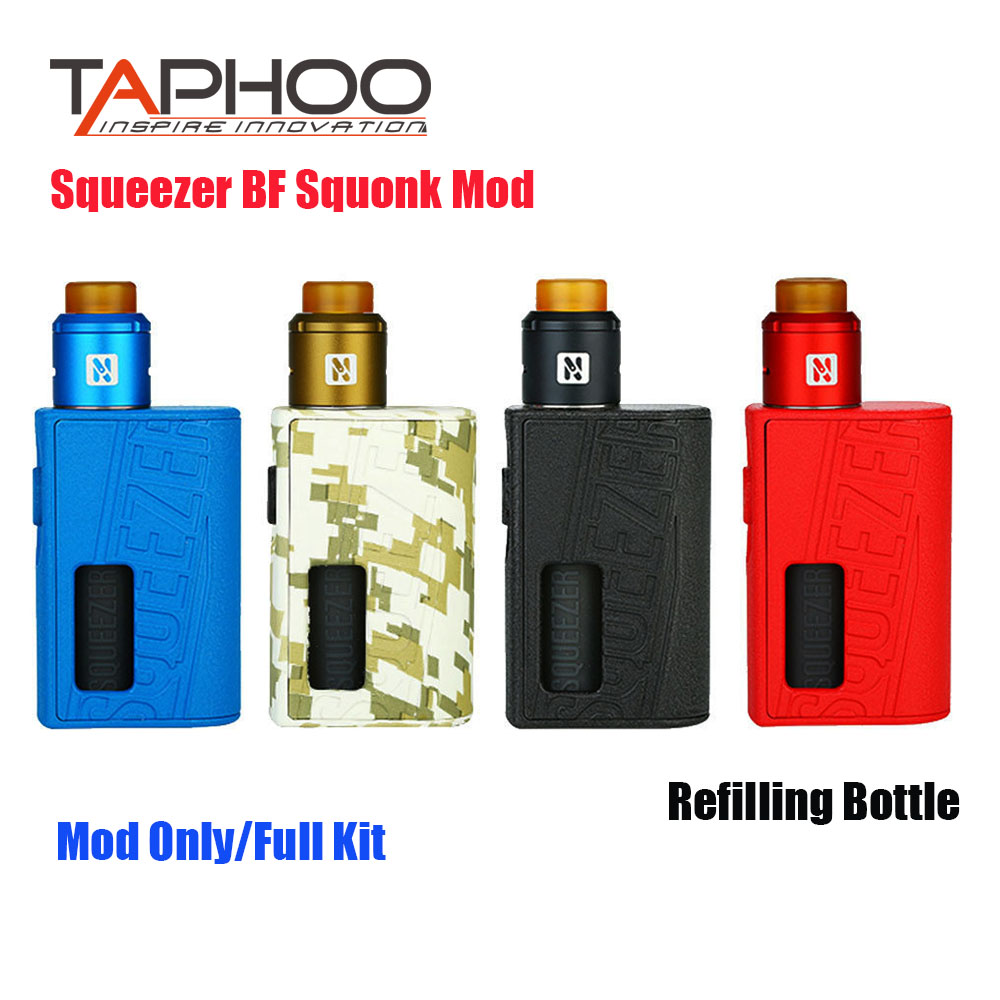 Original Squeezer BF Mechanical MOD Refilling Bottle Electronic Cigarette Squonk Vape Box Mod  N RDA Tank 510 Thread 20700
