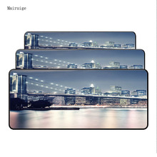 Mairuige  London Tower Bridge Scenery Keyboard Large MousePads Size for 400*900*4mm Speed Version Gaming Mousepads For CSGO LOL