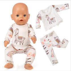 Кукла Одежда для новорожденных Fit 18 дюймов 40-43 см Единорог Альпака платье с рисунком кактуса кукольная одежда для малышей подарок на день