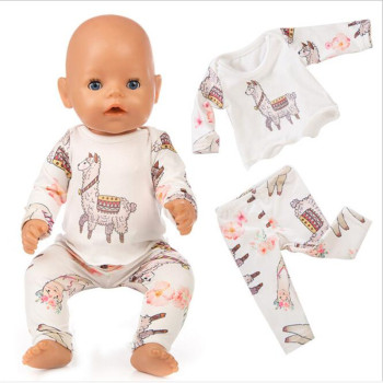 Doll Clothes Born Baby Fit 18 inch 40-43cm Unicorn Alpaca cactus dress Doll Accessories Clothes For Baby Festival Birthday Gift