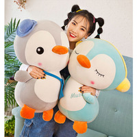 50cm Infant Plush Elephant Soft Appease Penguin Playmate Calm Doll Baby Toy Penguin Pillow Plush Toys Stuffed Doll