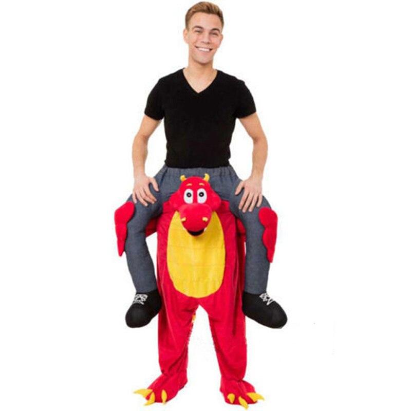 Novedad paseo en mi mascota disfraces llevar de nuevo divertido Animal pantalones Oktoberfest Halloween fiesta Cosplay ropa caballo montar Juguetes - 3
